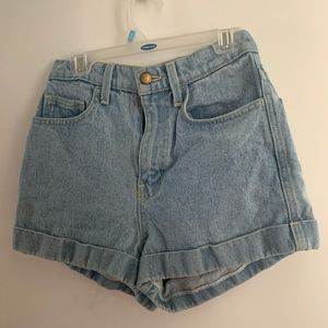 American Apparel Jean Shorts